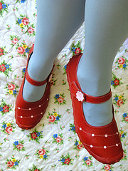 red-mary-janes