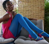 turquoise legs