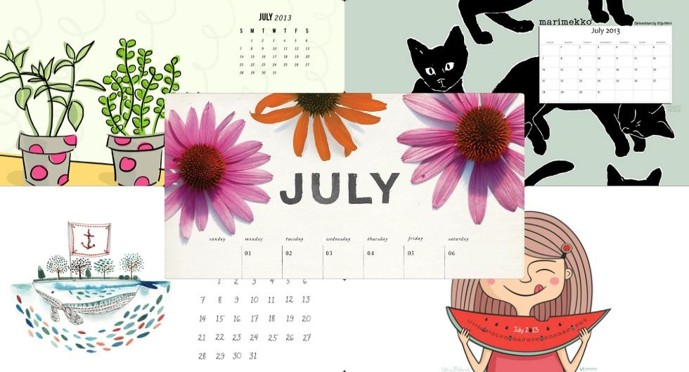 july-calendars