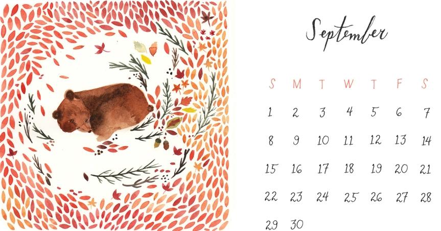 2013-september-calendar-bear